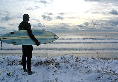 wintersurfing